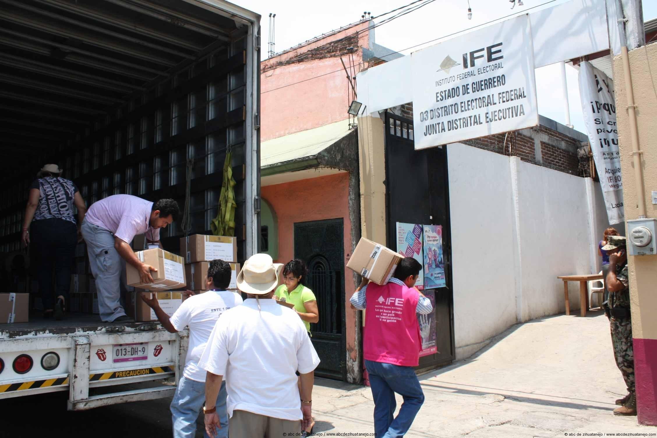 Llegaron las boletas electorales a Costa Grande