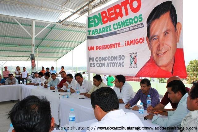 Alejandro Bravo fortalece la unidad del PRI en la Costa Grande