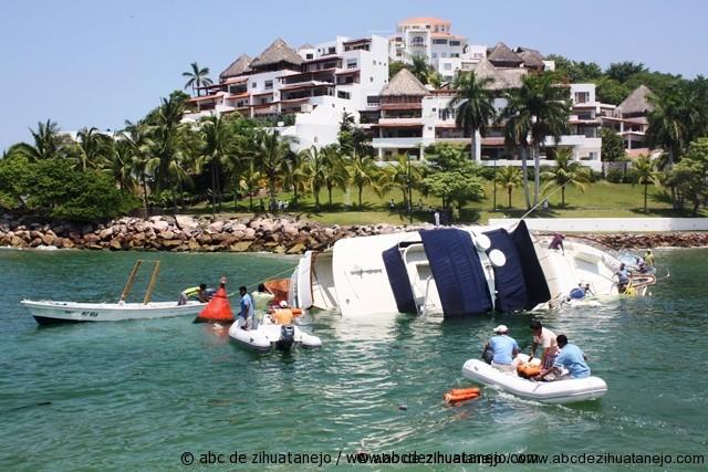 Incidentes en entrada de la Marina Ixtapa