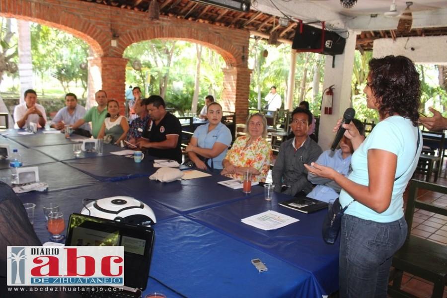 La Presidenta de la Unión de Comerciantes y Restauranteros de Playa Linda, Miriam Balleza, plantea la implementación de un sistema de alumbrado público con celdas solares para el ahorro de energía, y se eficiente el servicio.