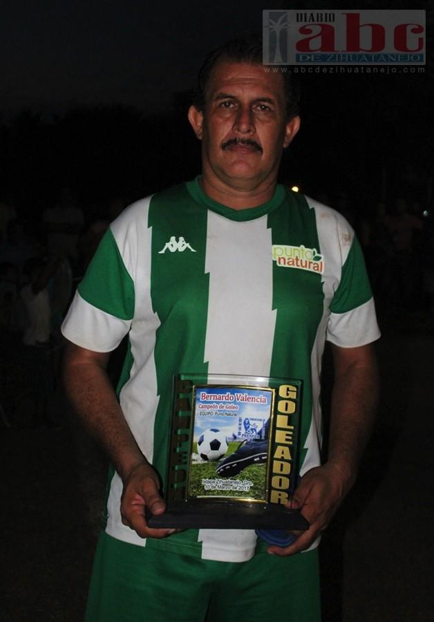 El campeón de goleo individual: Bernardo Valencia Romero