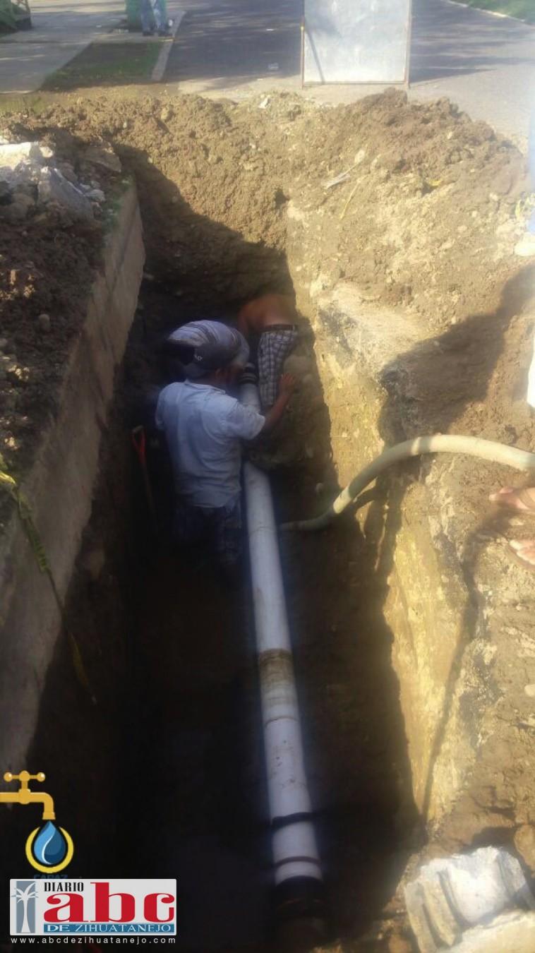 Photo of Repara la CAPAZ fuga en línea principal que abastece parte del Centro