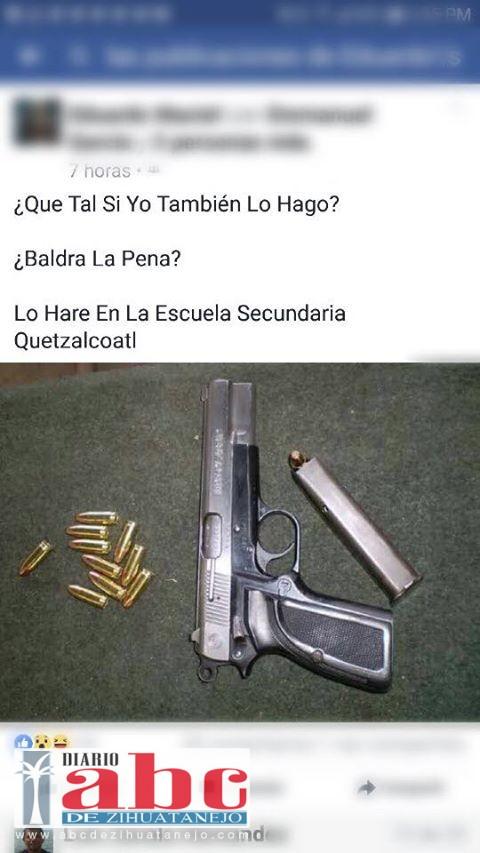 Photo of Amenaza adolescente de Petatlán en redes con matar a sus compañeros de escuela