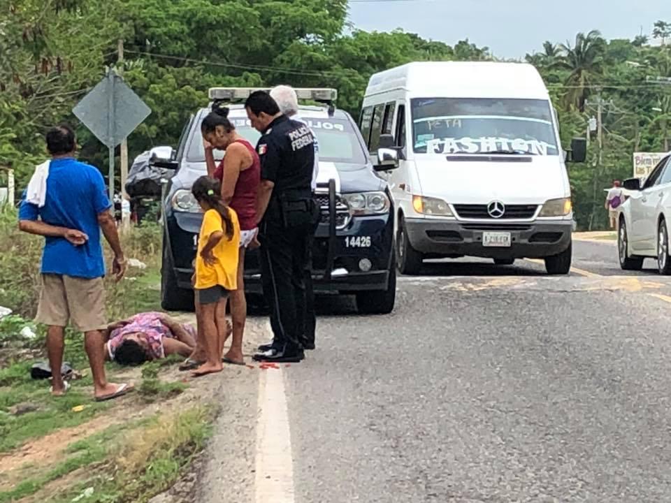 Photo of Se desvanece por ataques epilépticos a la orilla de carretera nacional en entronque a Los Achotes