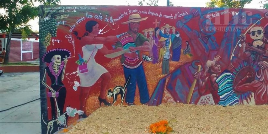 Photo of Vandalizan mural de la danza del Cortés