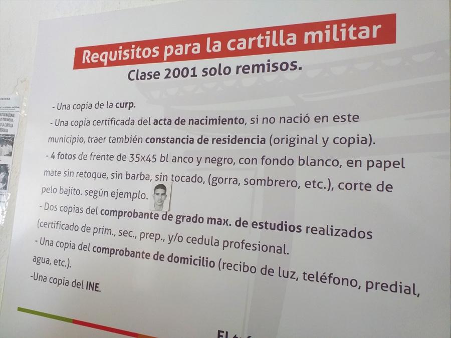 Photo of Ante alta demanda, solicitan segunda remesa de cartillas del Servicio Militar Nacional