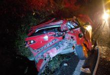 Photo of Dos lesionados en fuerte accidente sobre la carretera nacional a la altura de Los Almendros